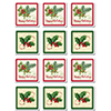 HOLLY COASTERS PARTY SUPPLIES