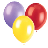 YELLOW PURPLE RED BALLOON COMBO PARTY SUPPLIES