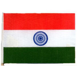 Click for larger picture of 4X6 MUSLIN FLAG- INDIA (36/CS) PARTY SUPPLIES