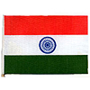 INDIA HANDHELD FLAG (4X6 IN.) PARTY SUPPLIES