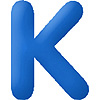 DISCONTINUED INFLATABLE LETTERS BLUE K PARTY SUPPLIES