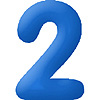 DISCONTINUED INFLATABLE NUMBERS BLUE 2 PARTY SUPPLIES