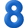 DISCONTINUED INFLATABLE NUMBERS BLUE 8 PARTY SUPPLIES