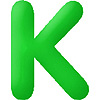 DISCONTINUED INFLATABLE LETTERS GREEN K PARTY SUPPLIES