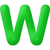 DISCONTINUED INFLATABLE LETTERS GREEN W PARTY SUPPLIES