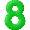 DISCONTINUED INFLATABLE NUMBERS GREEN 8 PARTY SUPPLIES