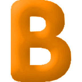 Click for larger picture of DISCONTINUED INFLATABLE LETTERS ORANGE B PARTY SUPPLIES