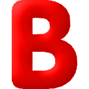 Click for larger picture of DISCONTINUED INFLATABLE LETTERS RED B PARTY SUPPLIES