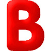 DISCONTINUED INFLATABLE LETTERS RED B PARTY SUPPLIES