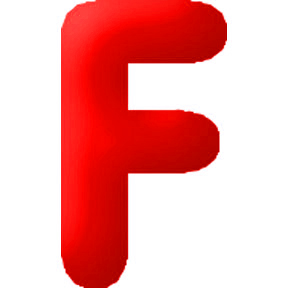 Click for larger picture of DISCONTINUED INFLATABLE LETTERS RED F PARTY SUPPLIES