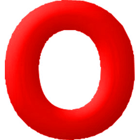Click for larger picture of DISCONTINUED INFLATABLE LETTERS RED O PARTY SUPPLIES