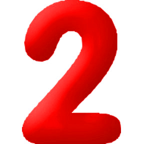 Click for larger picture of DISCONTINUED INFLATABLE NUMBERS RED 2 PARTY SUPPLIES