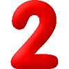 DISCONTINUED INFLATABLE NUMBERS RED 2 PARTY SUPPLIES