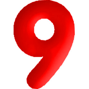 Click for larger picture of DISCONTINUED INFLATABLE NUMBERS RED 9 PARTY SUPPLIES