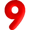 DISCONTINUED INFLATABLE NUMBERS RED 9 PARTY SUPPLIES