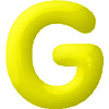 DISCONTINUED INFLATABLE LETTERS YELLOW G PARTY SUPPLIES