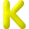 DISCONTINUED INFLATABLE LETTERS YELLOW K PARTY SUPPLIES