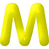 DISCONTINUED INFLATABLE LETTERS YELLOW M PARTY SUPPLIES