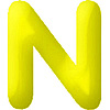 DISCONTINUED INFLATABLE LETTERS YELLOW N PARTY SUPPLIES