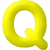 DISCONTINUED INFLATABLE LETTERS YELLOW Q PARTY SUPPLIES