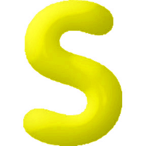 Click for larger picture of DISCONTINUED INFLATABLE LETTERS YELLOW S PARTY SUPPLIES
