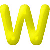 DISCONTINUED INFLATABLE LETTERS YELLOW W PARTY SUPPLIES