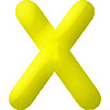 DISCONTINUED INFLATABLE LETTERS YELLOW X PARTY SUPPLIES