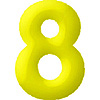 DISCONTINUED INFLATABLE NUMBERS YELLOW 8 PARTY SUPPLIES
