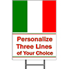 ITALY YARD SIGN PARTY SUPPLIES