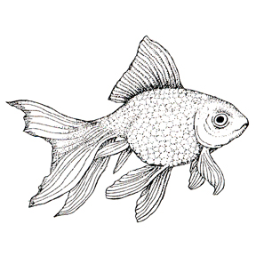 DISCONTINUED FRESH WATER GOLDFISH STAMP PARTY SUPPLIES