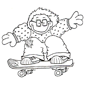 DISCONTINUED SKATER DAVE RUBBER STAMP PARTY SUPPLIES