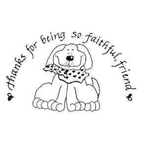 DISCONTINUED FAITHFUL FRIEND RBBR STAMP PARTY SUPPLIES
