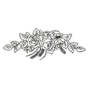 Click for larger picture of DISCONTINUED ROSE SPREAD RUBBER STAMP PARTY SUPPLIES