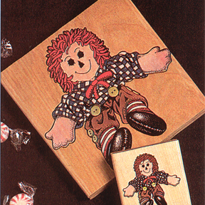 DISCONTINUED SMALL FREDDY RAG DOLL STAMP PARTY SUPPLIES