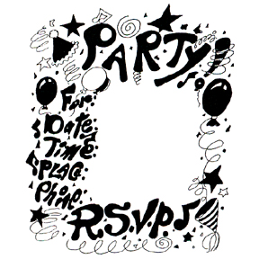 DISCONTINUED PARTY RSVP RUBBER STAMP PARTY SUPPLIES
