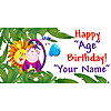 PERSONALIZED JUNGLE BANNER PARTY SUPPLIES