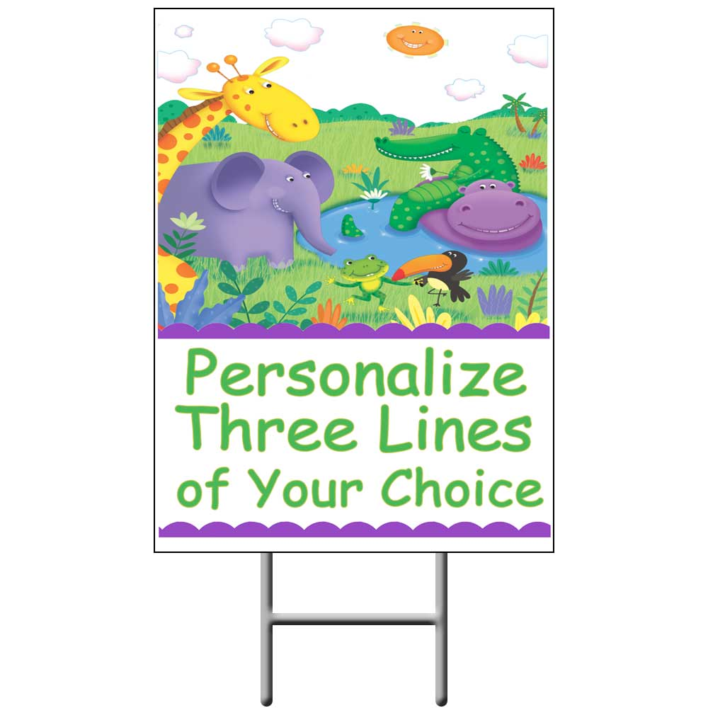 Click for larger picture of JUNGLE YARD SIGN PARTY SUPPLIES
