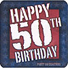 50TH B-DAY COASTERS PARTY SUPPLIES