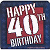 40TH B-DAY COASTERS PARTY SUPPLIES
