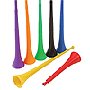 BLACK STADIUM HORN (TELESCOPING 28in.) PARTY SUPPLIES