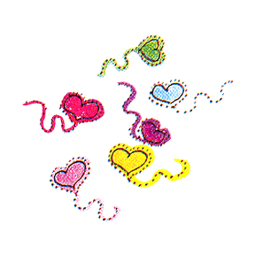 DISCONTINUED BUNNY'S HEART RUBBER STAMP PARTY SUPPLIES