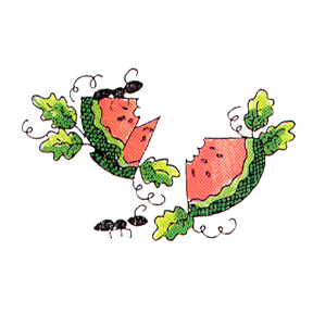DISCONTINUED CARING WATERMELON  STAMP PARTY SUPPLIES