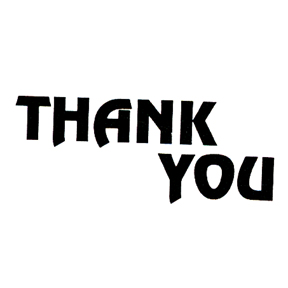 DISCONTINUED THANK YOU RUBBER STAMP PARTY SUPPLIES