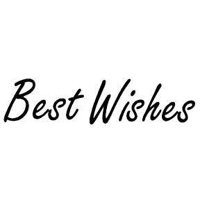 DISCONTINUED BEST WISHES RUBBER STAMP PARTY SUPPLIES