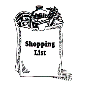 DISCONTINUED SHOPPING LIST RUBBER STAMP PARTY SUPPLIES