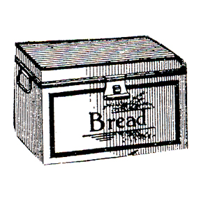 DISCONTINUED BREAD BOX RUBBER STAMP PARTY SUPPLIES