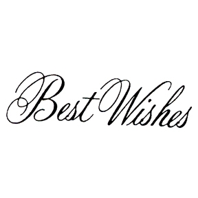 DISCONTINUED BESTWISHES 2 RUBBER STAMP PARTY SUPPLIES
