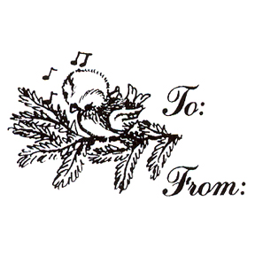 DISCONTINUED TO/FROM BIRD RUBBER STAMP PARTY SUPPLIES