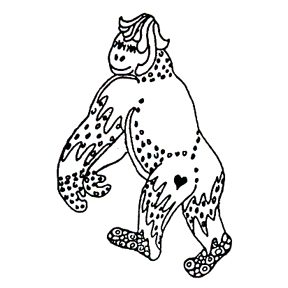 Click for larger picture of DISCONTINUED GORILLA RUBBER STAMP PARTY SUPPLIES