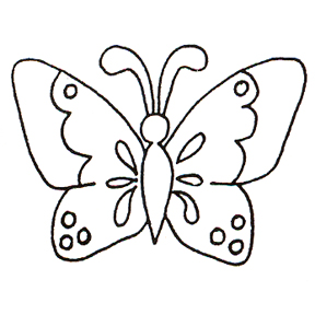 Click for larger picture of DISCONTINUED STENCIL BUTTERFLY  STAMP PARTY SUPPLIES